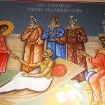 Свети Пантелеймон изцерява безнадежно болен